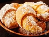 Маслени кифлички с локум, пудра захар и свинска мас (със сода, без мая, без втасване)